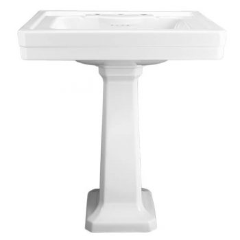 DXV FITZGERALD 28 INCH PEDESTAL LAVATORY -THREE HOLE