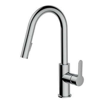 AQUABRASS 6545N-PC BARLEY PULL-DOWN DUAL STREAM MODE KITCHEN FAUCET