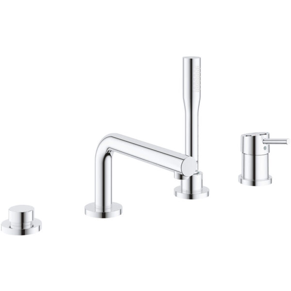 Grohe 19576002 - 4-Hole Single-Handle Deck Mount Roman Tub Faucet with Hand Shower
