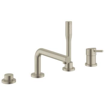 Grohe 19576EN2 – 4-Hole Single-Handle Deck Mount Roman Tub Faucet with Hand Shower