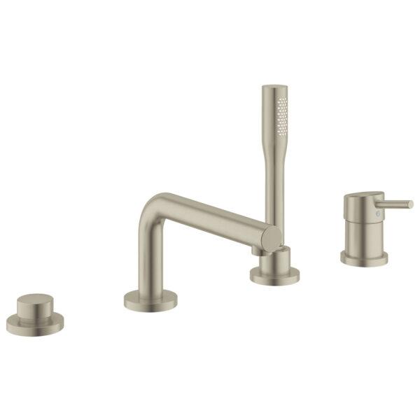 Grohe 19576EN2 - 4-Hole Single-Handle Deck Mount Roman Tub Faucet with Hand Shower