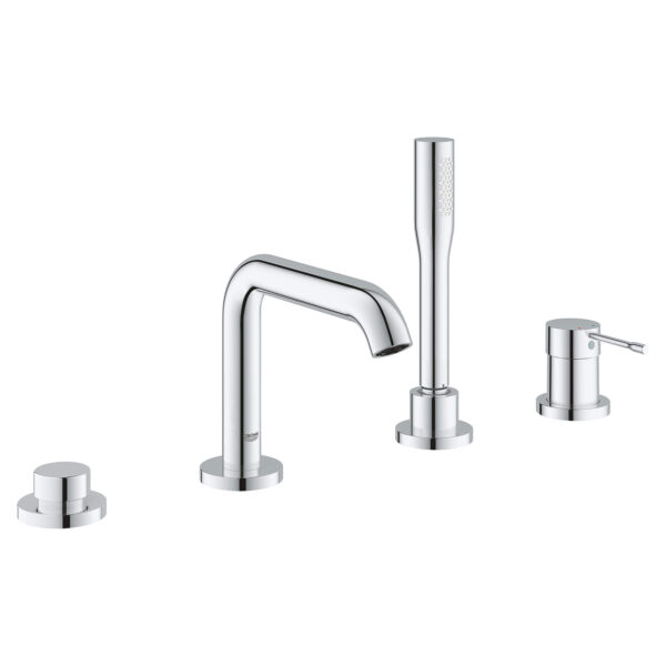 Grohe 1957800A - 4-Hole Single-Handle Deck Mount Roman Tub Faucet with Hand Shower