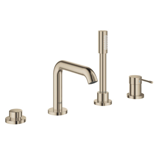 Grohe 19578BEA - 4-Hole Single-Handle Deck Mount Roman Tub Faucet with Hand Shower