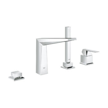 Grohe 19787001 – 4-Hole Single-Handle Deck Mount Roman Tub Faucet with Hand Shower