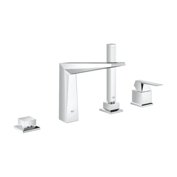 Grohe 19787001 - 4-Hole Single-Handle Deck Mount Roman Tub Faucet with Hand Shower