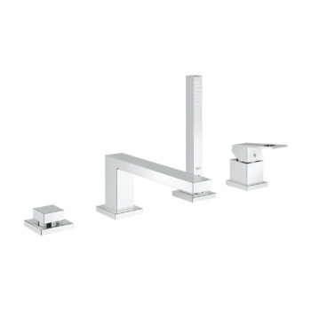Grohe 19897001 – 4-Hole Single-Handle Deck Mount Roman Tub Faucet with Hand Shower