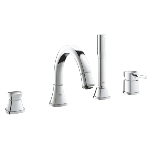 Grohe 19936000 - 4-Hole Single-Handle Deck Mount Roman Tub Faucet with Hand Shower