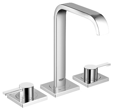 """Grohe 2019100A - 8"""" Widespread 2-Handle M-Size Bathroom Faucet 4.5 L/min (1.2 gpm)"""