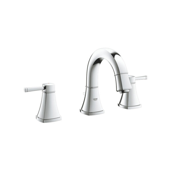 """Grohe 2041800A - 8"""" Widespread 2-Handle S-Size Bathroom Faucet 4.5 L/min (1.2 gpm)"""
