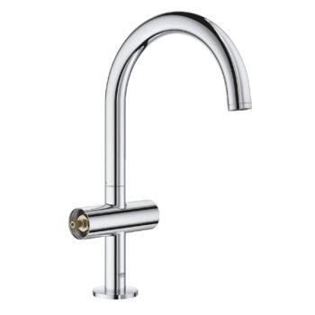 Grohe 21027003 – Single Hole Single-Handle L-Size Bathroom Faucet 4.5 L/min (1.2 gpm)