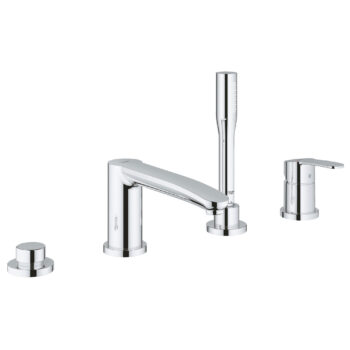 Grohe 23048003 – 4-Hole Single-Handle Deck Mount Roman Tub Faucet with Hand Shower