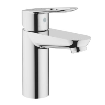 Grohe 23085000 – Single Hole Single-Handle S-Size Bathroom Faucet 5.7 L/min (1.5 gpm) Less Drain