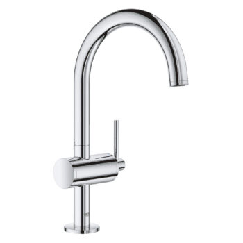 Grohe 23828003 – Single Hole Single-Handle L-Size Bathroom Faucet 4.5 L/min (1.2 gpm)