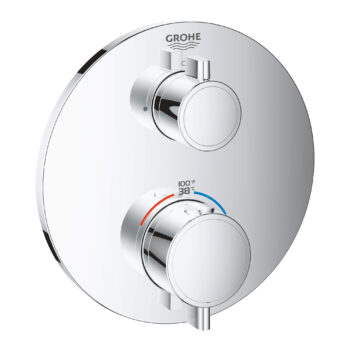 Grohe 24107000 – Single Function 2-Handle Thermostatic Valve Trim