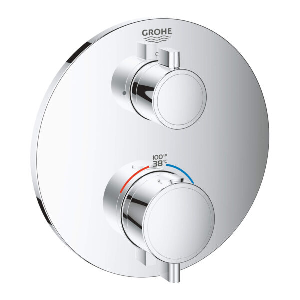 Grohe 24107000 - Single Function 2-Handle Thermostatic Valve Trim