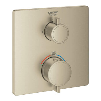 Grohe 24110EN0 – Single Function 2-Handle Thermostatic Valve Trim