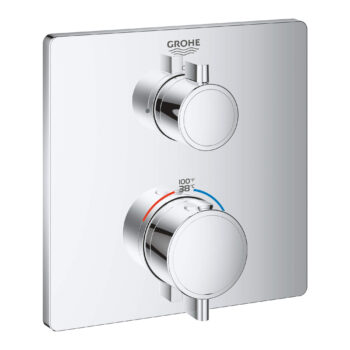 Grohe 24111000 – Dual Function 2-Handle Thermostatic Valve Trim