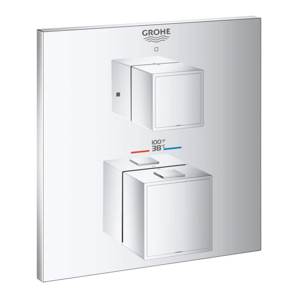 Grohe 24157000 - Single Function 2-Handle Thermostatic Valve Trim