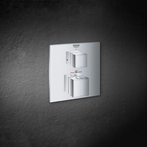 Grohe 24158000 - Dual Function 2-Handle Thermostatic Valve Trim