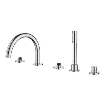 Grohe 25049003 – 5-Hole 2-Handle Deck Mount Roman Tub Faucet with Hand Shower