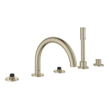 Grohe 25049EN3 – 5-Hole 2-Handle Deck Mount Roman Tub Faucet with Hand Shower