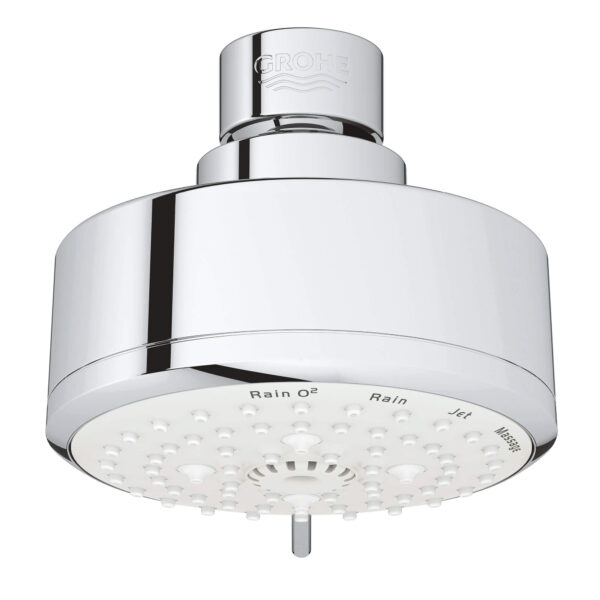 "Grohe 26043001 - 100 Shower Head, 4"" - 4 Sprays, 6.6 L/min (1.75 gpm)"