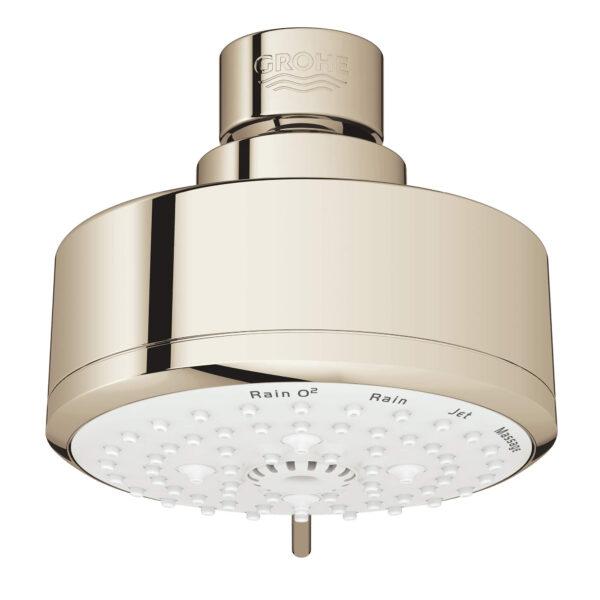 "Grohe 26043BE1 - 100 Shower Head, 4"" - 4 Sprays, 6.6 L/min (1.75 gpm)"