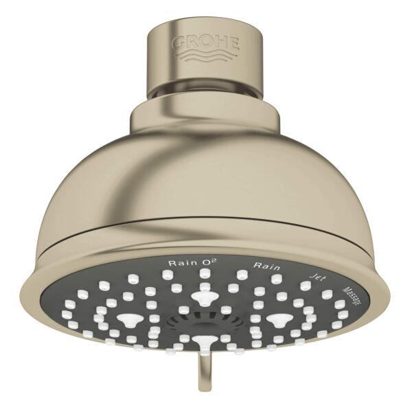 """Grohe 26045EN1 - 100 Shower Head, 4"""" - 4 Sprays, 6.6 L/min (1.75 gpm)"""