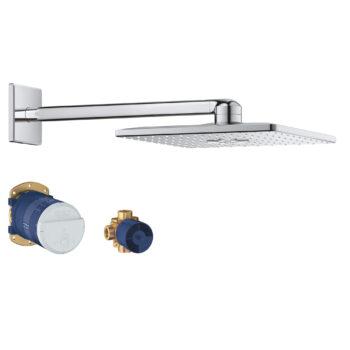 Grohe 26504000 – 310  Shower Head Set, 12″ – 2 Sprays, 6.6 L/min (1.75 gpm)