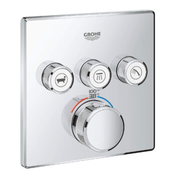 Grohe 29142000 – Triple Function Thermostatic Valve Trim