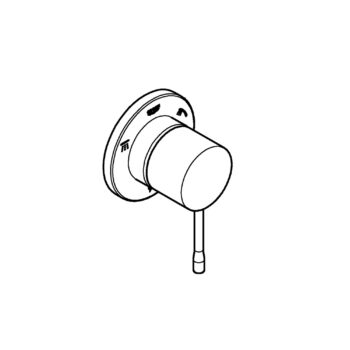Grohe 29203GN1 – 3-Way Diverter Trim