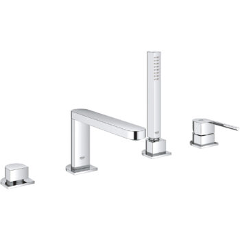 Grohe 29307003 – 4-Hole Single-Handle Deck Mount Roman Tub Faucet with Hand Shower