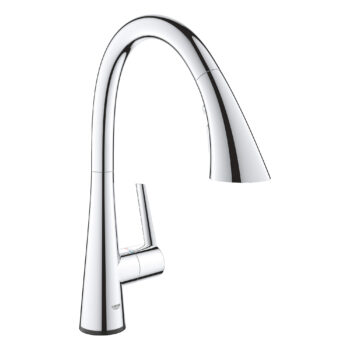 Grohe 30205002 – Single-Handle Pull Down Kitchen Faucet Triple Spray with Touch Technology