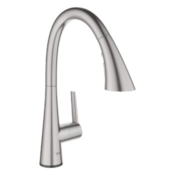 Grohe 30205DC2 – Single-Handle Pull Down Kitchen Faucet Triple Spray with Touch Technology