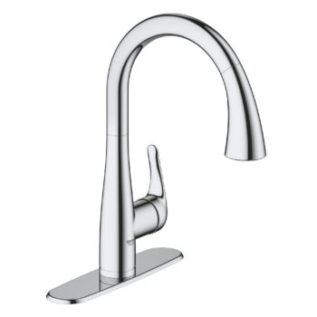 Grohe 30211001 – Single-Handle Pull Down Kitchen Faucet Dual Spray 6.6 L/min (1.75 gpm)