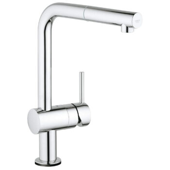 Grohe 30218001 – Single-Handle Pull-Out Kitchen Faucet Single Spray with Touch Technology