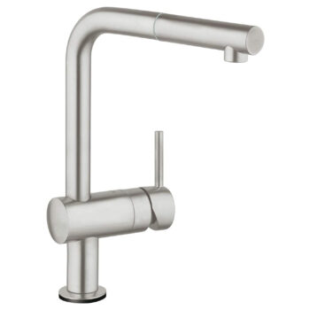 Grohe 30218DC1 – Single-Handle Pull-Out Kitchen Faucet Single Spray with Touch Technology