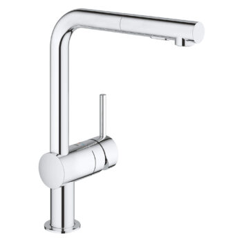 Grohe 30300000 – Single-Handle Pull-Out Kitchen Faucet Dual Spray 6.6 L/min (1.75 gpm)