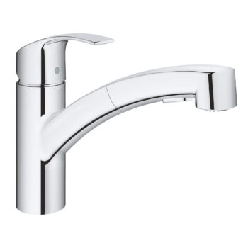 Grohe 30306000 – Single-Handle Pull-Out Kitchen Faucet Dual Spray 6.6 L/min (1.75 gpm)
