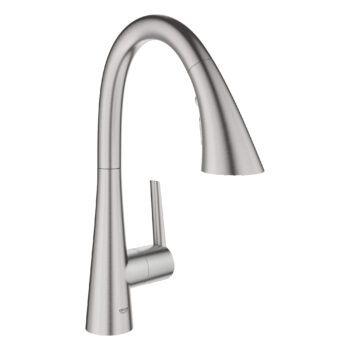 Grohe 30368DC2 – Single-Handle Pull Down Triple Spray Bar Faucet  6.6 L/min (1.75 gpm)