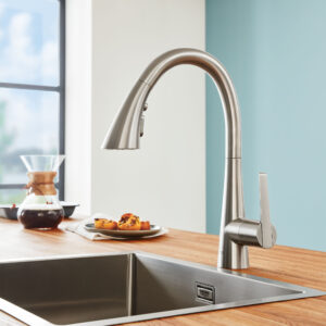 Grohe 30368DC2 - Single-Handle Pull Down Triple Spray Bar Faucet 6.6 L/min (1.75 gpm)