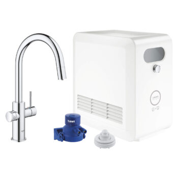 Grohe 31251002 – GROHE Blue® Single-Handle Pull Down Kitchen Faucet
