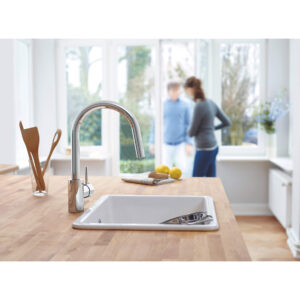Grohe 3134910E - Single-Handle Pull Down Kitchen Faucet Dual Spray 5.7 L/min (1.5 gpm)