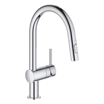 Grohe 31378003 – Single-Handle Pull Down Kitchen Faucet Dual Spray 6.6 L/min (1.75 gpm)