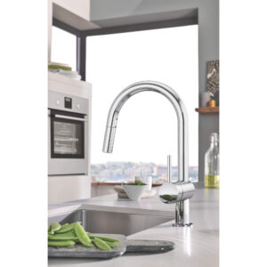Grohe 31378003 - Single-Handle Pull Down Kitchen Faucet Dual Spray 6.6 L/min (1.75 gpm)