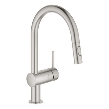Grohe 31378DC3 – Single-Handle Pull Down Kitchen Faucet Dual Spray 6.6 L/min (1.75 gpm)