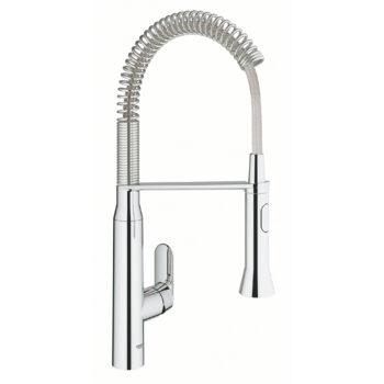 Grohe 31380000 – Single-Handle Semi-Pro Dual Spray Kitchen Faucet 6.6 L/min (1.75 gpm)