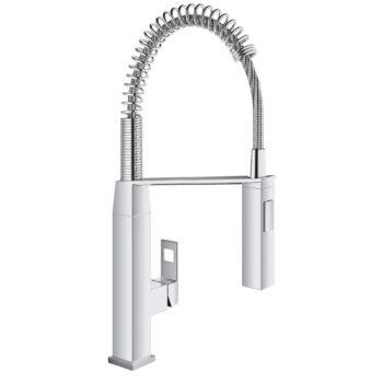 Grohe 31401000 – Single-Handle Semi-Pro Dual Spray Kitchen Faucet 6.6 L/min (1.75 gpm)