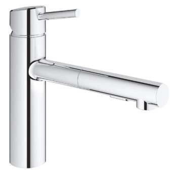 Grohe 31453001 – Single-Handle Pull-Out Kitchen Faucet Dual Spray 5.7 L/min (1.5 gpm)