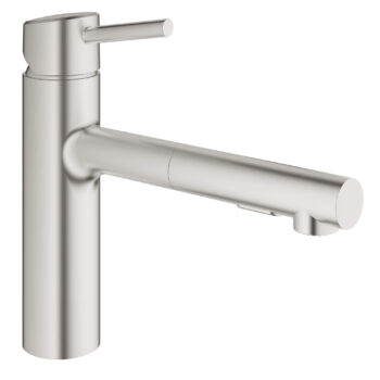 Grohe 31453DC1 – Single-Handle Pull-Out Kitchen Faucet Dual Spray 5.7 L/min (1.5 gpm)